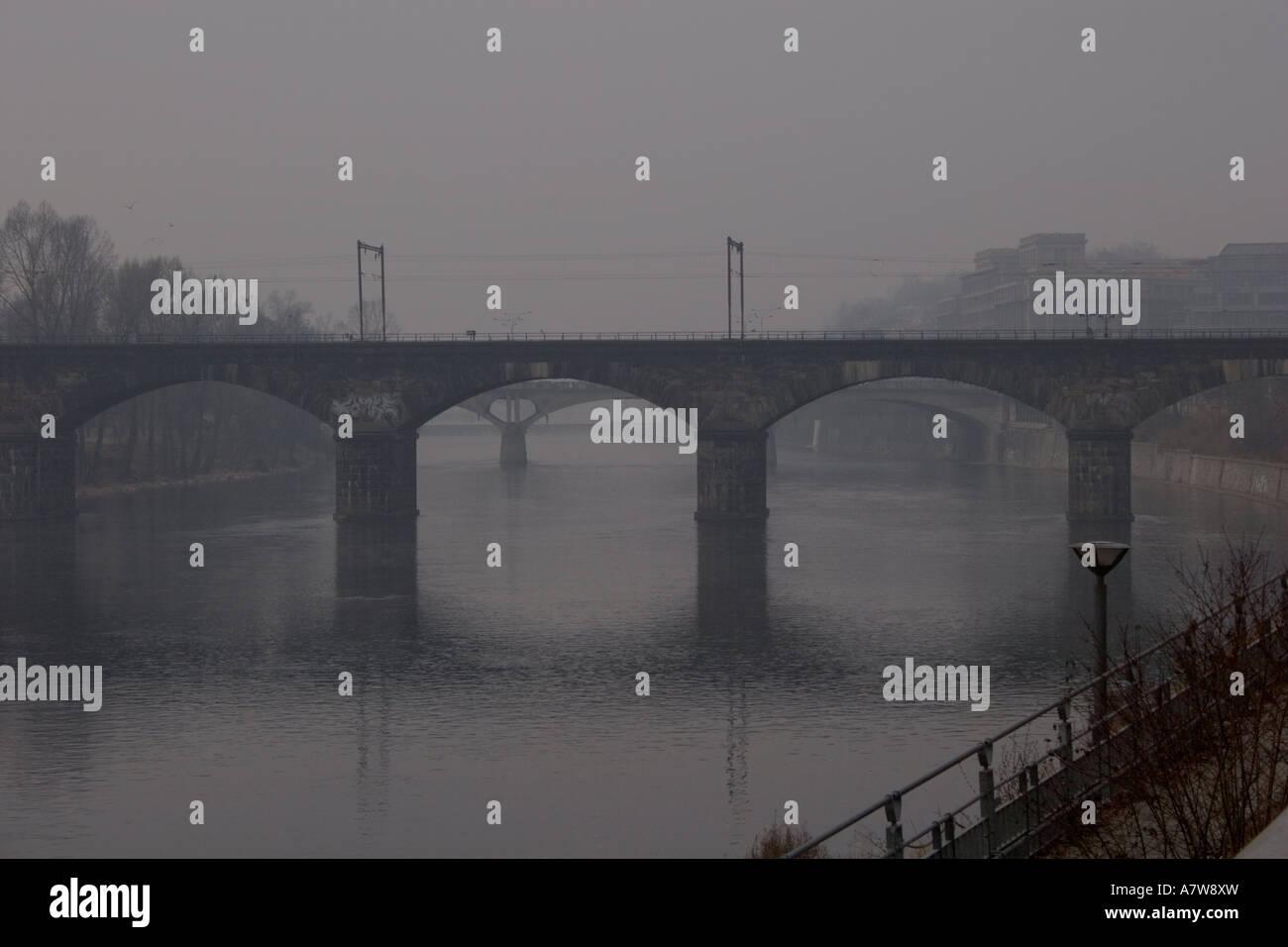 A bridge in Prague Stock Photo