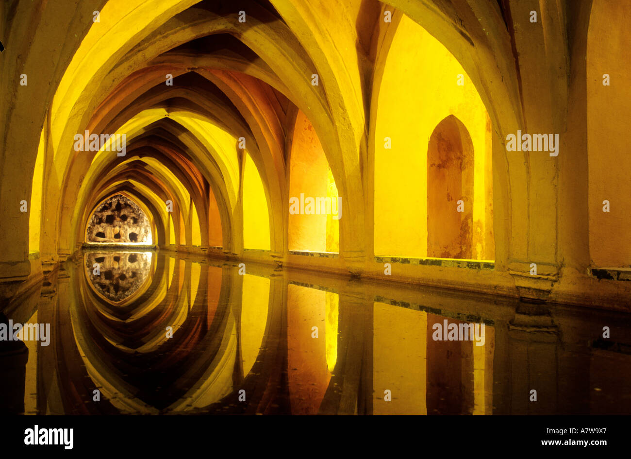 Spain, Andalusia, Sevilla, the Alcazar, baths of Dona Maria de Padilla Stock Photo