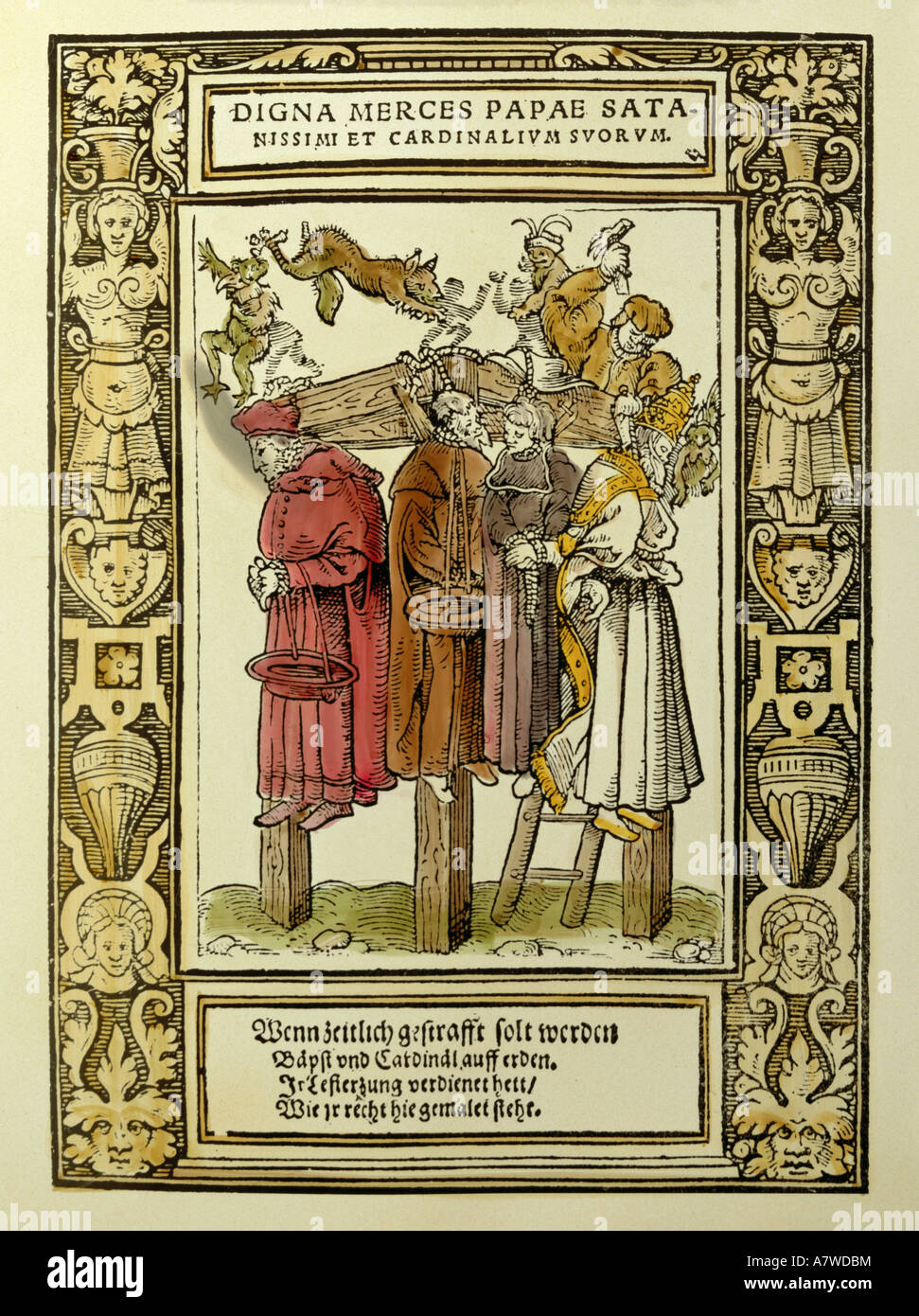 Luther, Martin, 10.11.1483 - 18.2.1546, German reformer, works, 'Against the Papacy at Rome, Founded by the - Stock Image