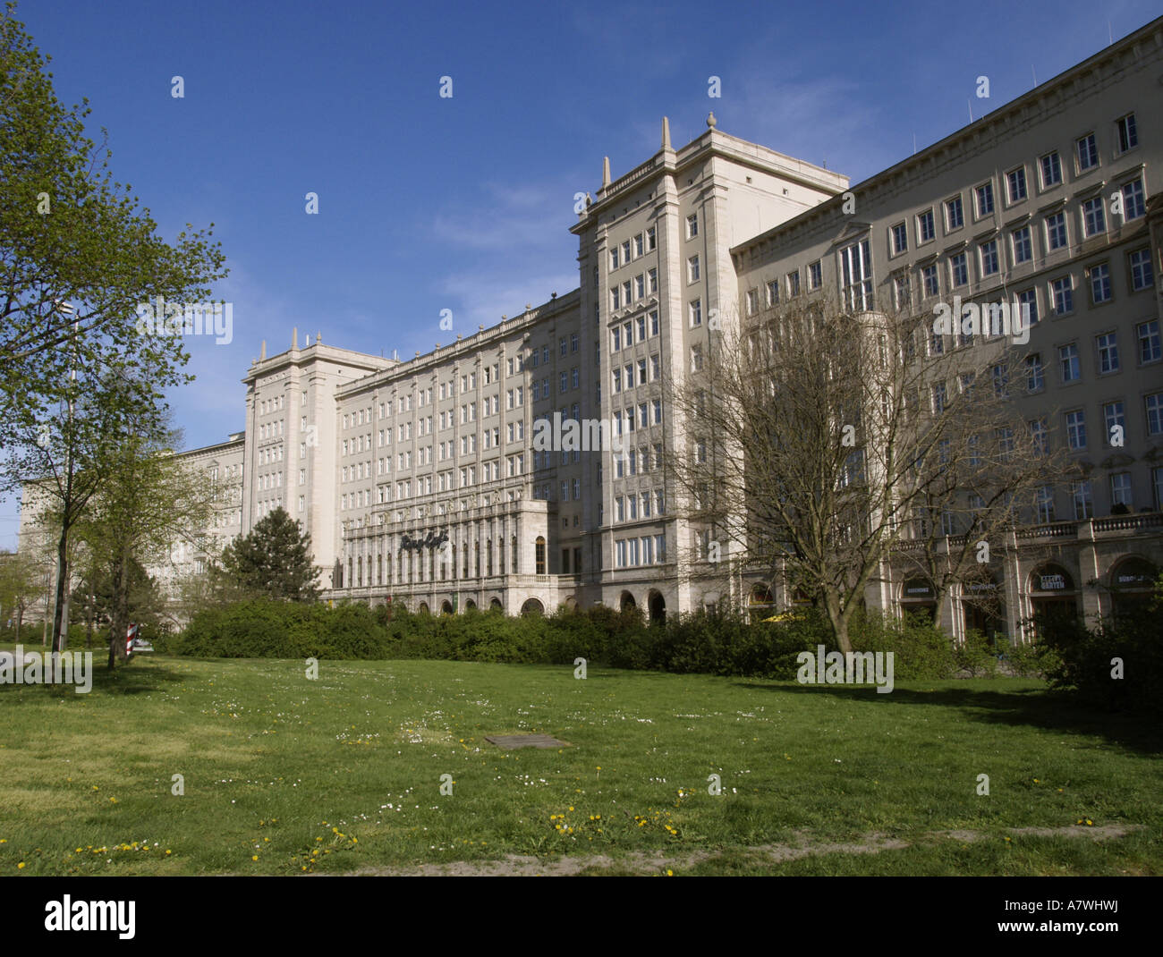 Apartment buildings from the 50s, Leipzig, Saxony, Germany - Stock Image