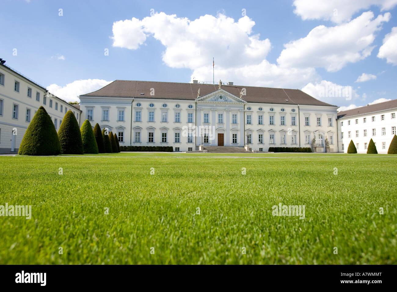 Castle Bellevue, domicile of the Federal President, Berlin, Germany - Stock Image