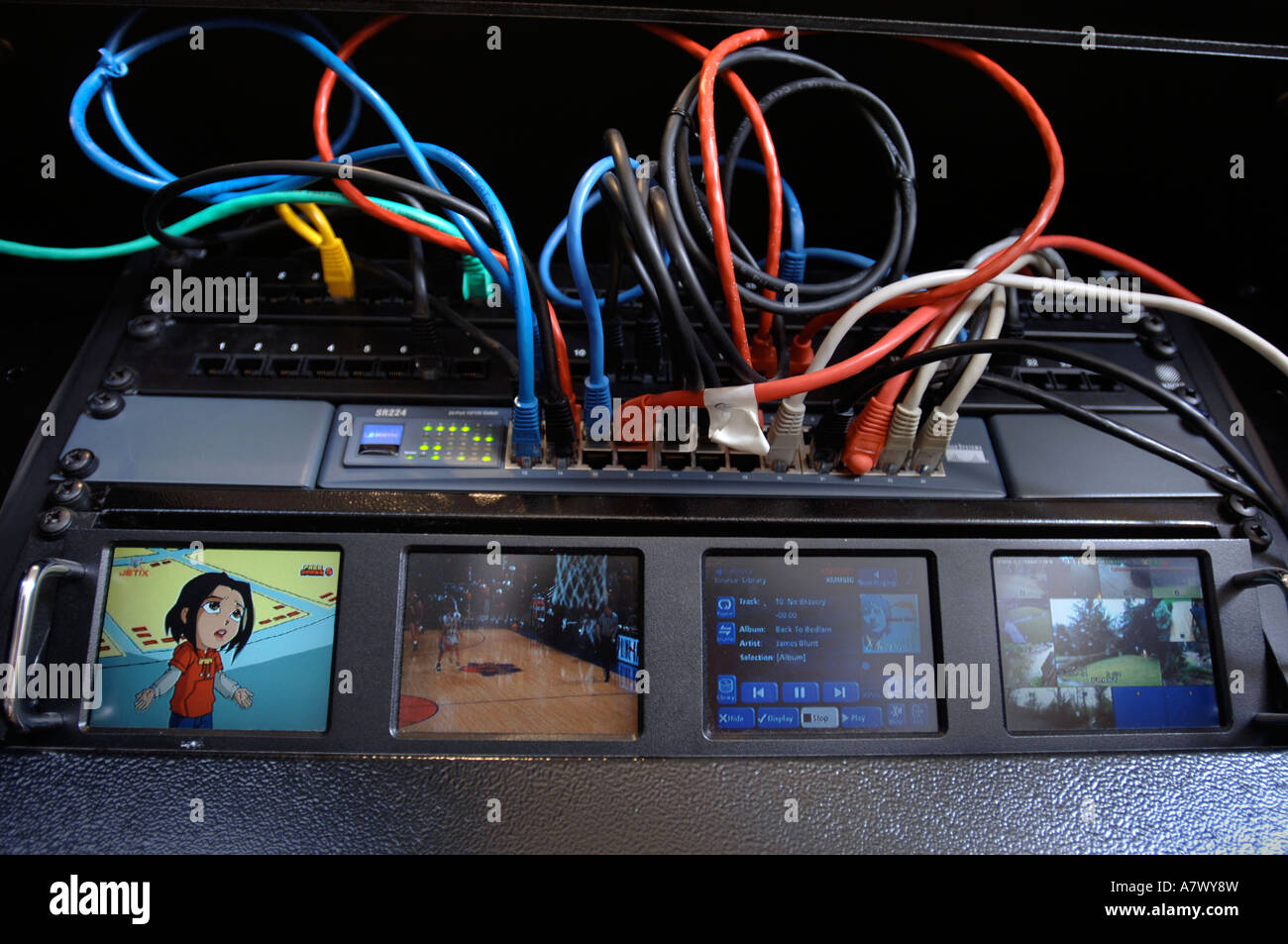 Electrical Cables Uk House Stock Photos Smart Wiring The Central Hub Of A With Integrated Systems Security Audio Visual Heating And