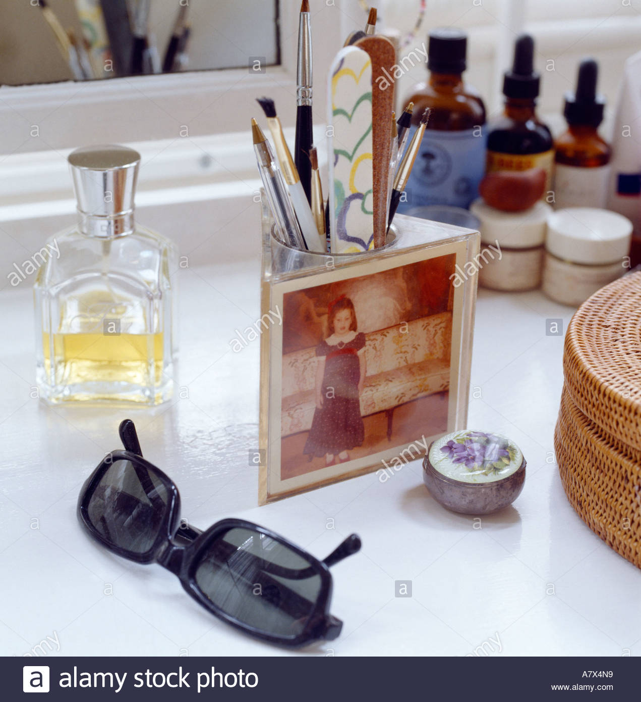 Kirstie allsops dressing table with makeup perfume sunglasses and kirstie allsops dressing table with makeup perfume sunglasses and photo cube watchthetrailerfo
