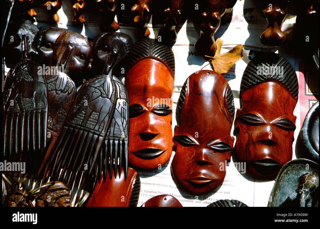 Africa Zambia Victoria Falls National Park Local Handicrafts Sold