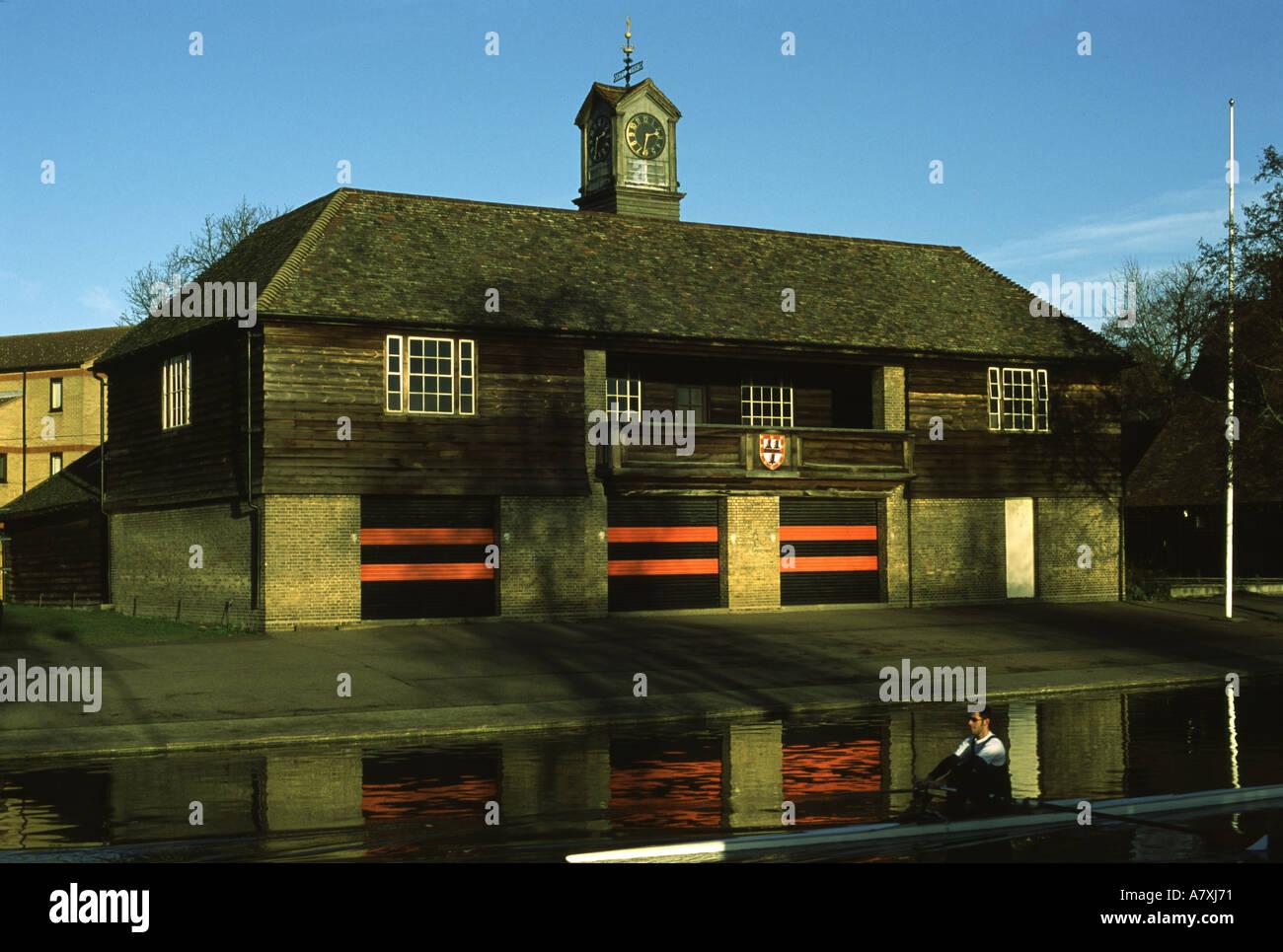 Jesus College Boathouse - Stock Image