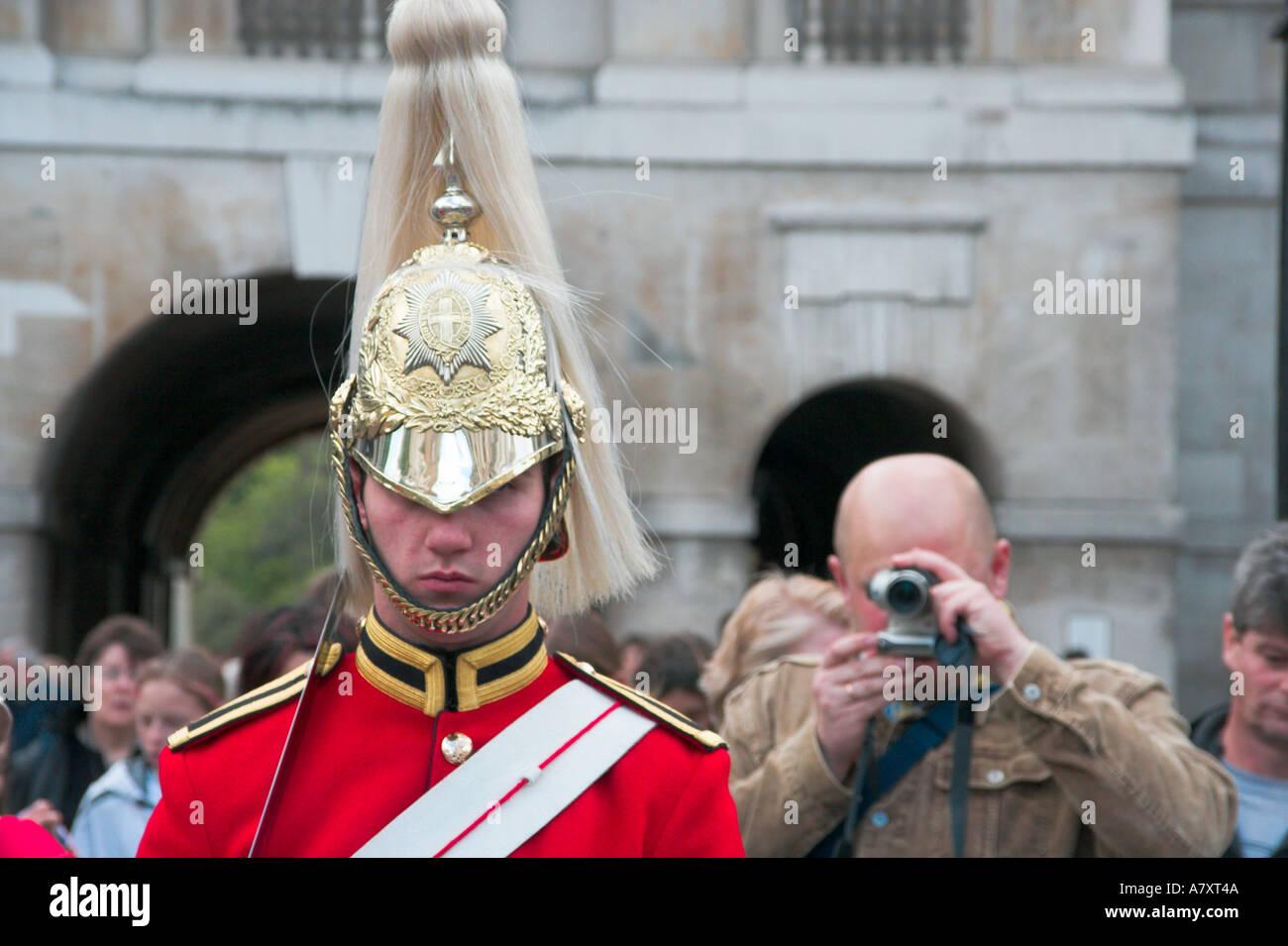 Queens Royal Life Guard Horse Guard Horseguard LifeGuard in London England UK - Stock Image