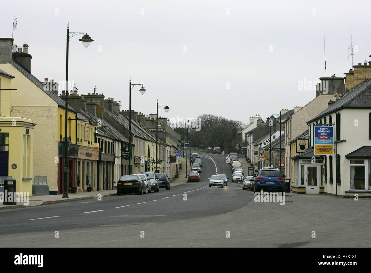 the main street Dunfanaghy village County Donegal Republic of Ireland - Stock Image
