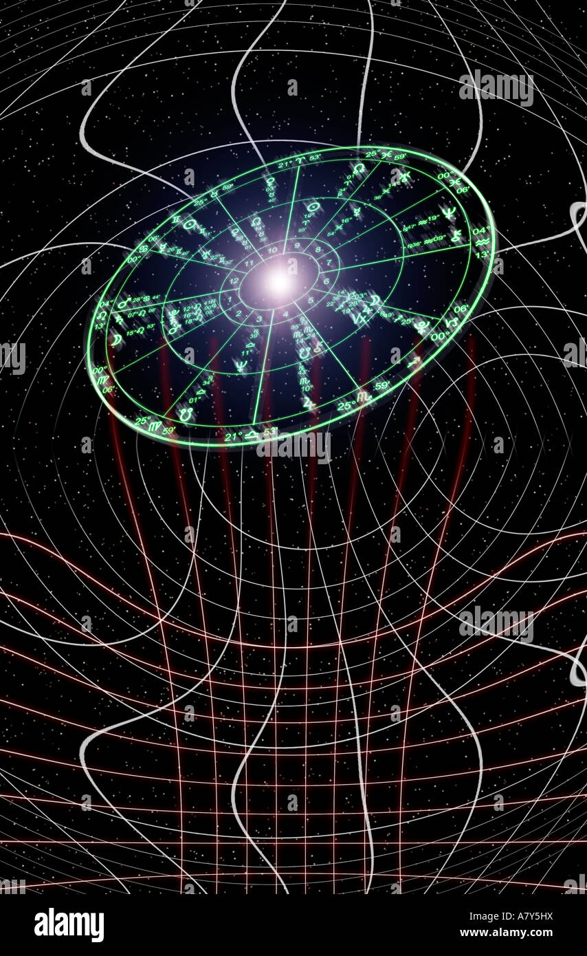 astrology abstract - Stock Image