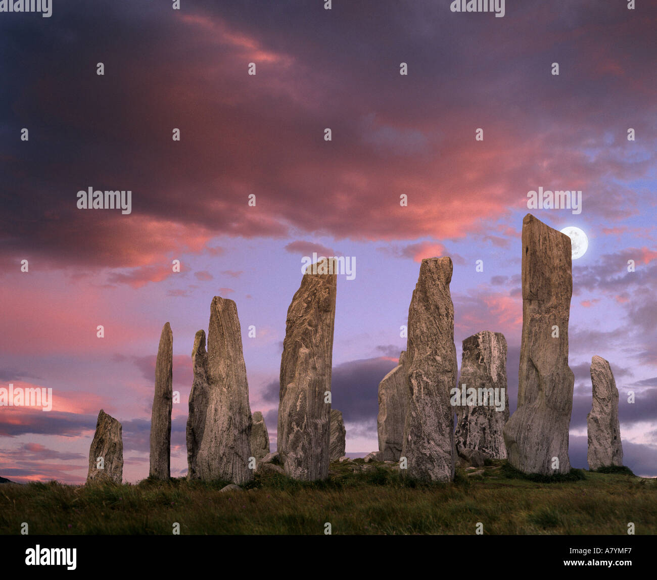 GB - OUTER HEBRIDES: Callanish Standing Stones on the Island of Lewis - Stock Image