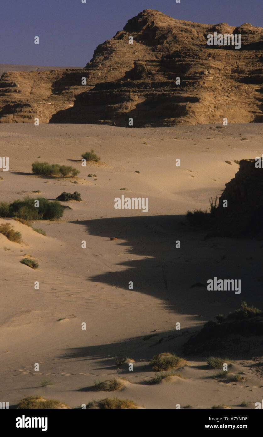 Landscape Nuweiba road Sinai - Stock Image