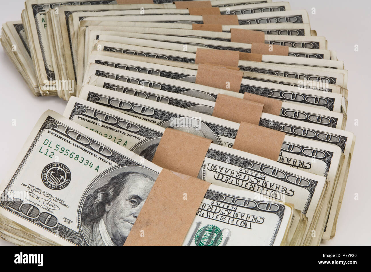 stacks of 100 dollar bills us stock photo 3897887 alamy