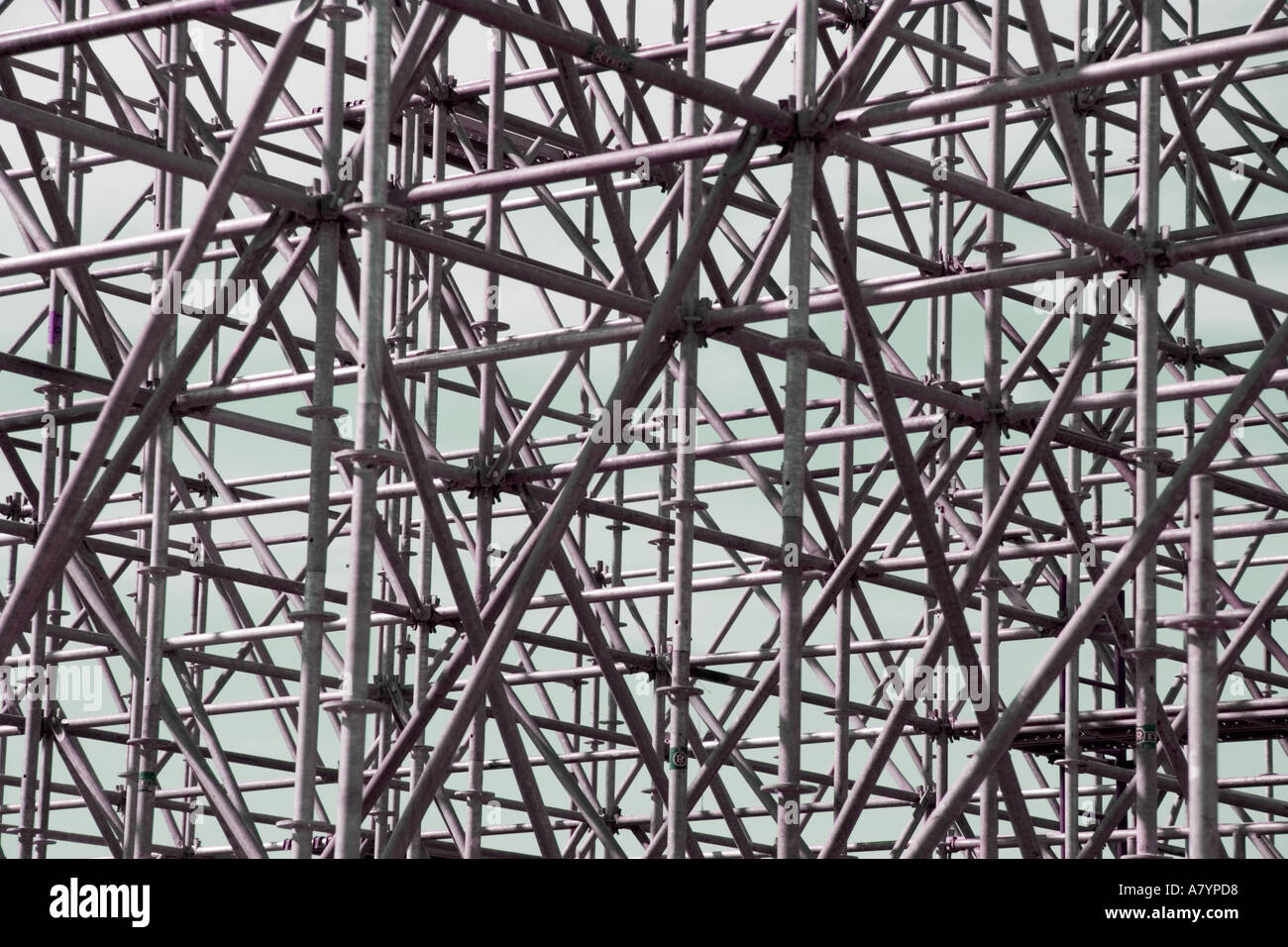 Pattern created by scaffolding - Stock Image