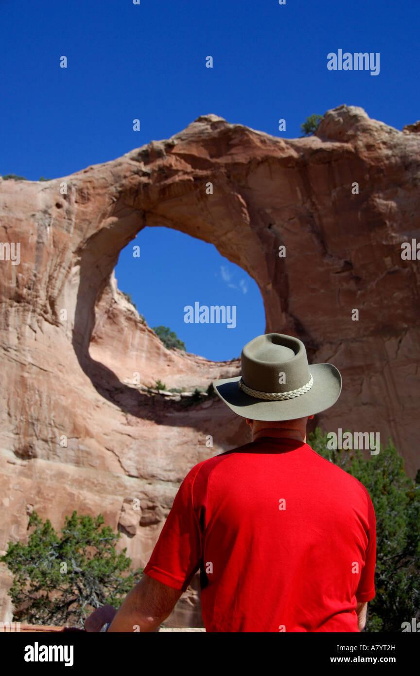 Arizona, Window Rock. Capital of the Navajo nation & seat of tribal government. - Stock Image