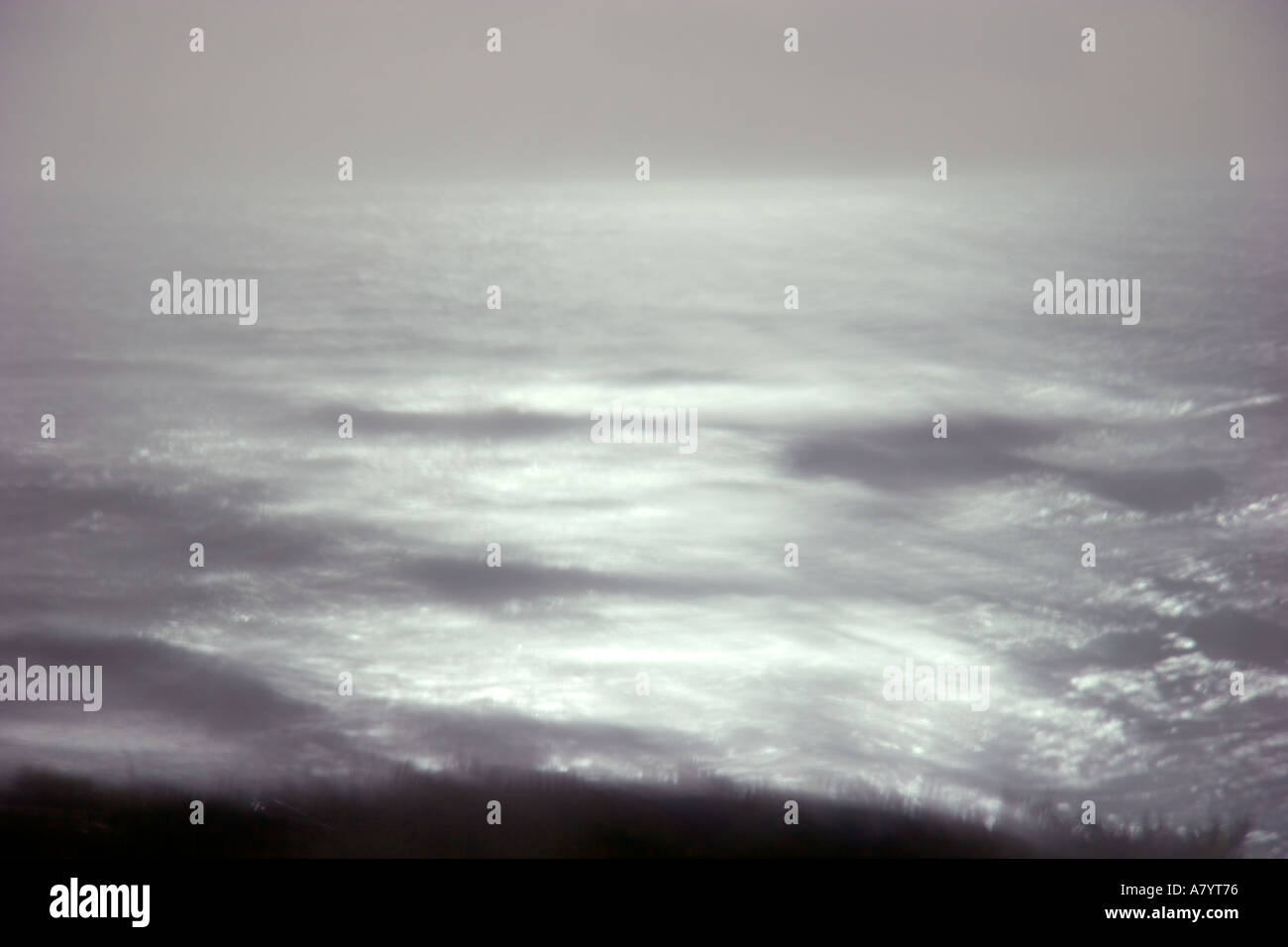 Blurred abstracted seascape - Stock Image