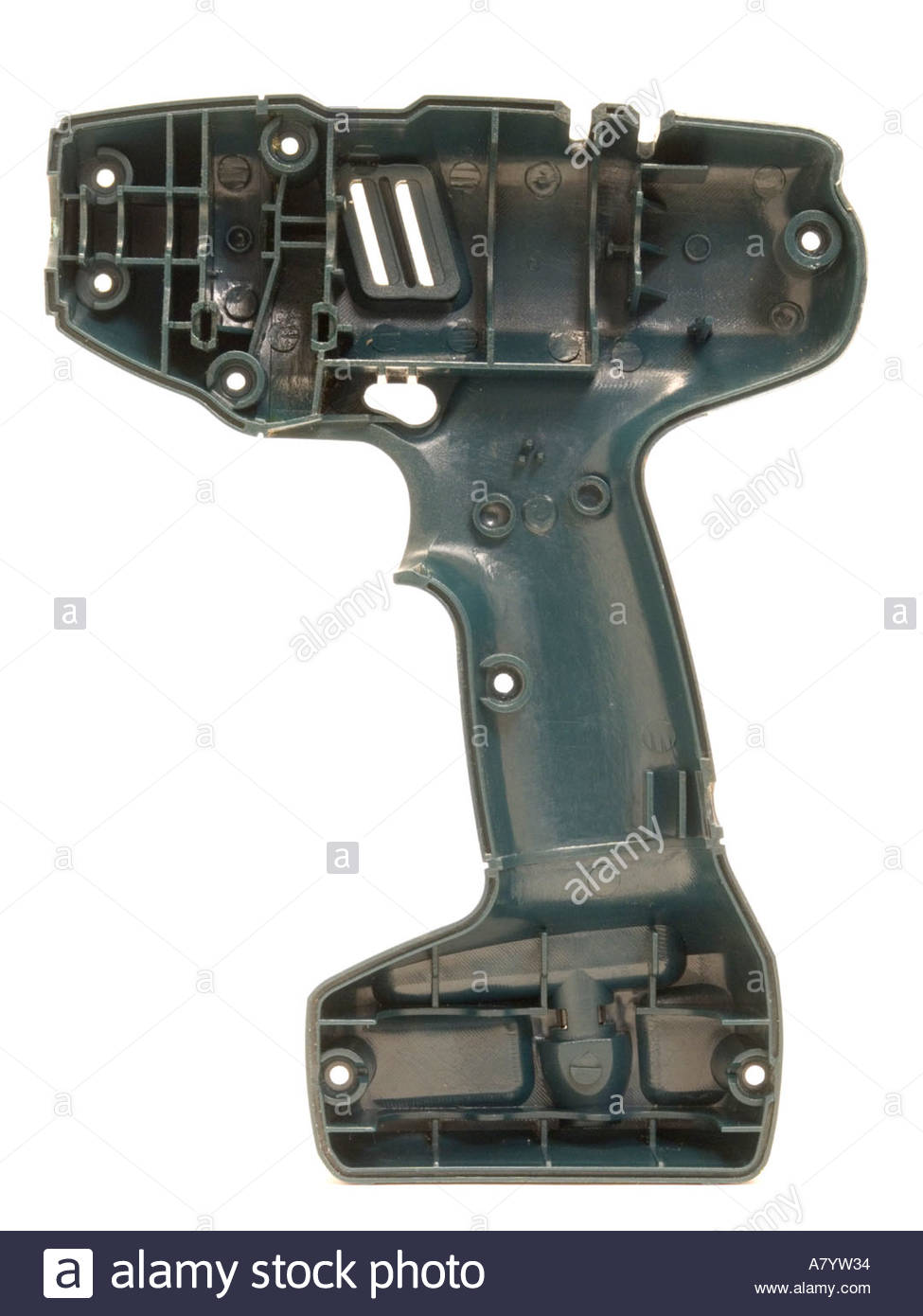 plastic mold of a cordless hand drill - Stock Image