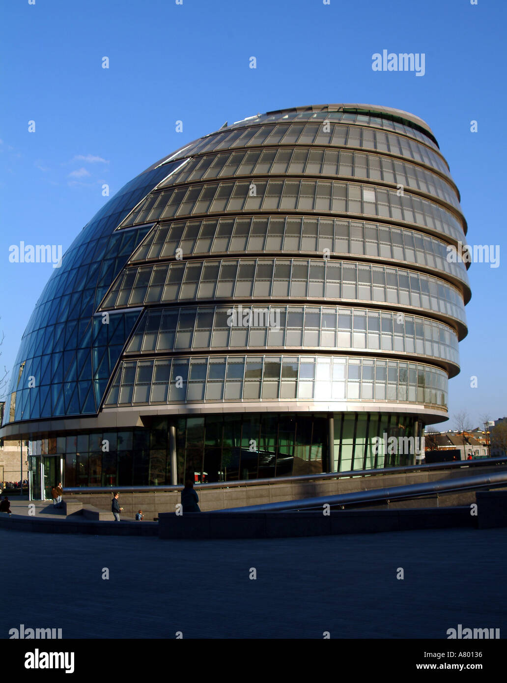 england london the london assembly building site of the london authority parliament alongside river thames - Stock Image