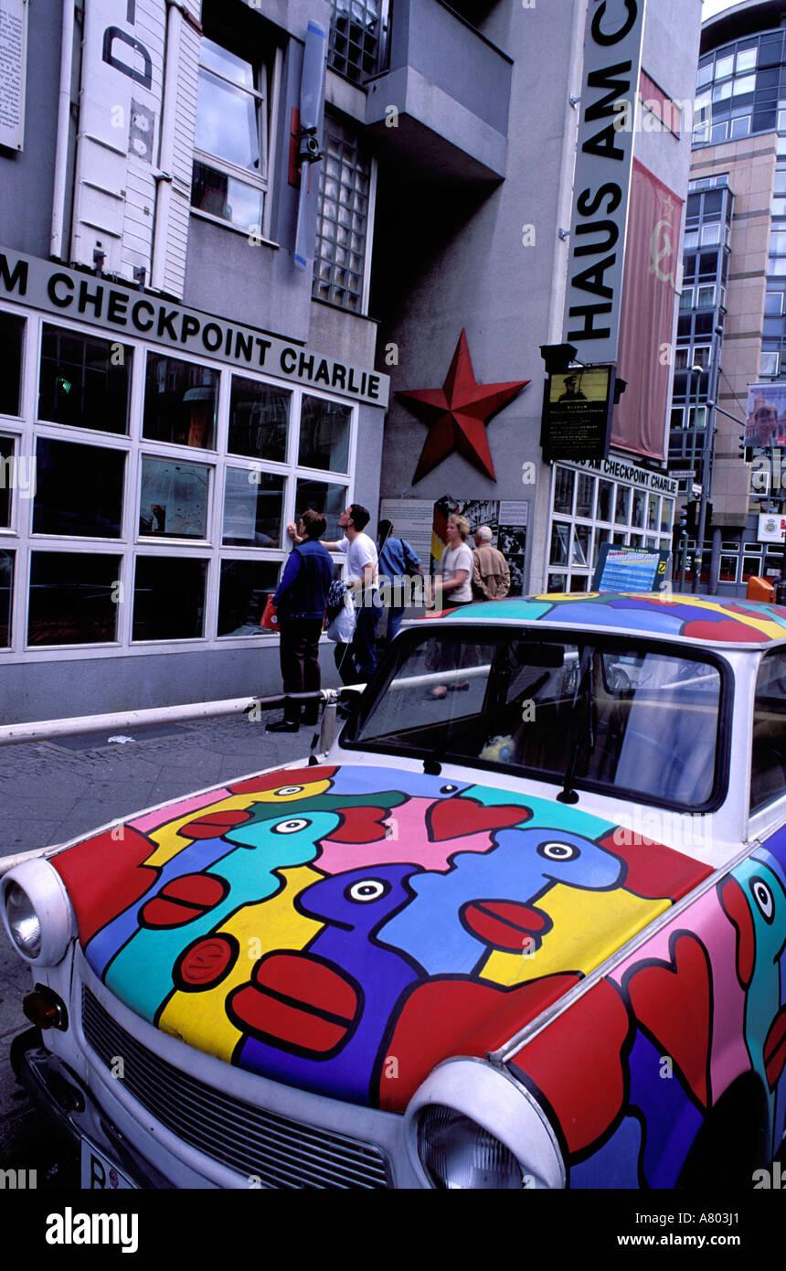 Berlin Wall Museum Car Stock Photos Berlin Wall Museum Car Stock