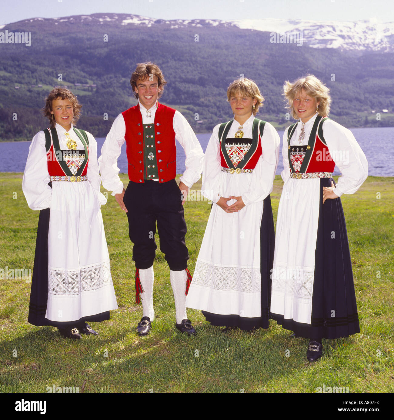 girls in national costume norway stock photos girls in national