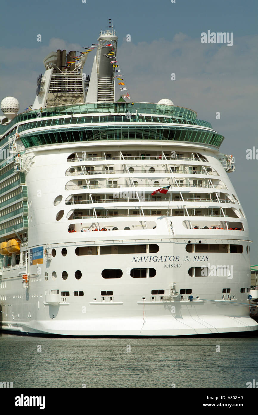Port of Southampton Navigator of the Seas cruise ship alongside.England UK - Stock Image