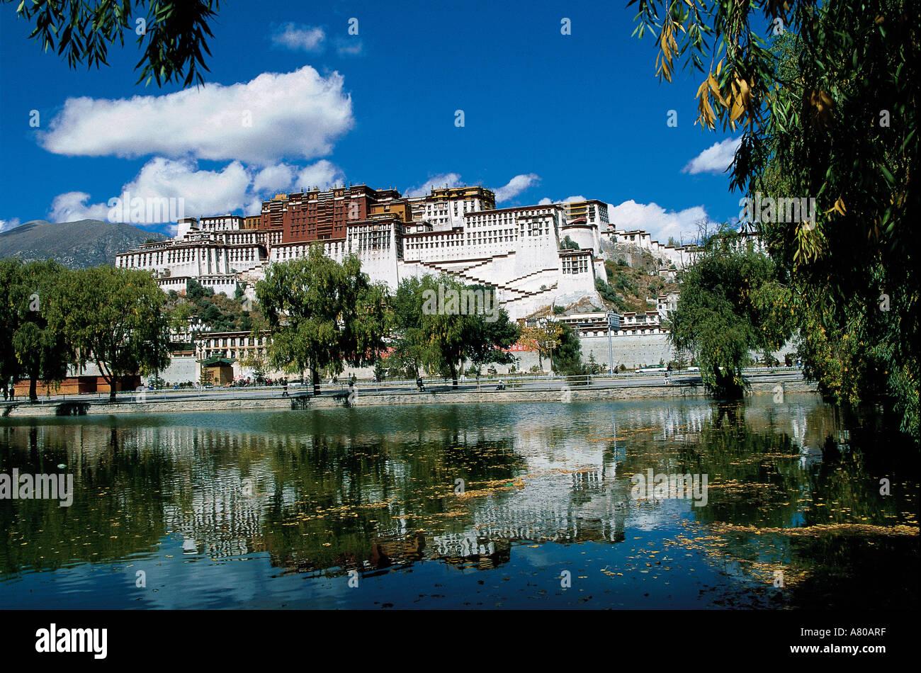 China, Tibet, Lhassa, Potala Palace, old house of Dalai Lamas - Stock Image