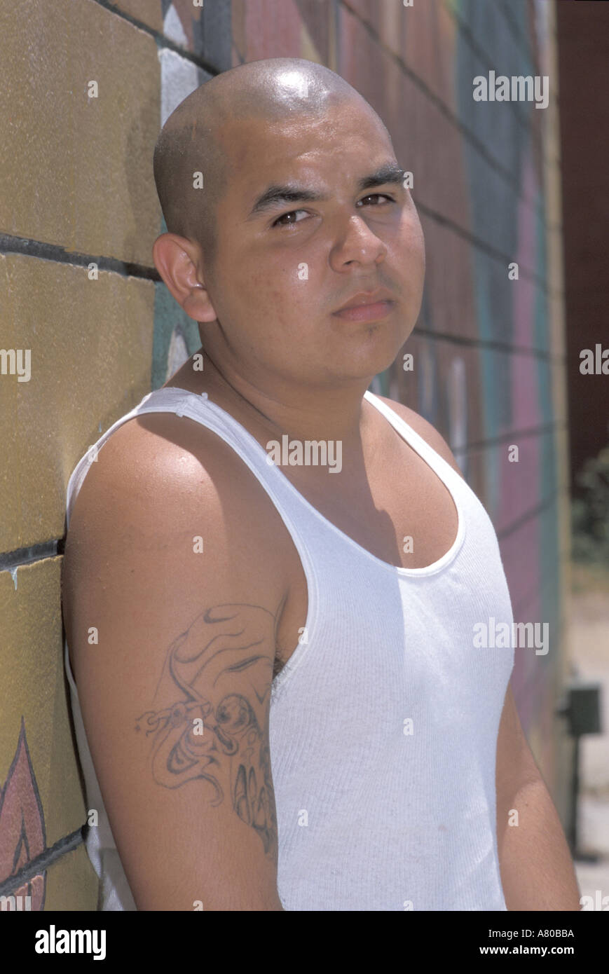 Latino gangs Los Angeles United States of America Stock
