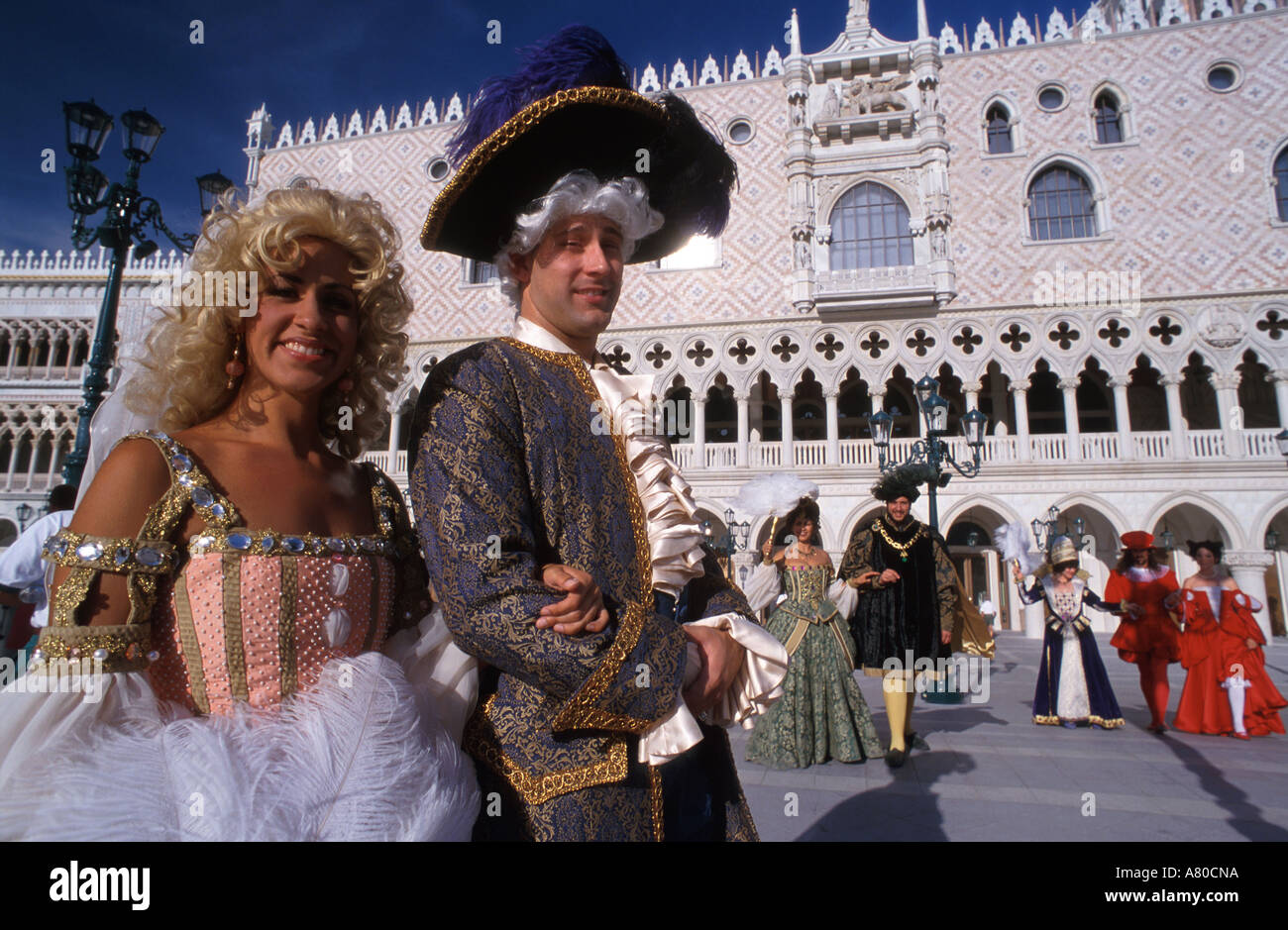 United States, Nevada, Las Vegas, Opera's actors at the Hotel Venetian - Stock Image