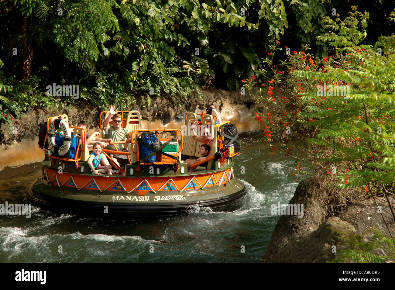 Walt Disney World Kali River Rapids Ride Action Water Animal Kingdom Asia