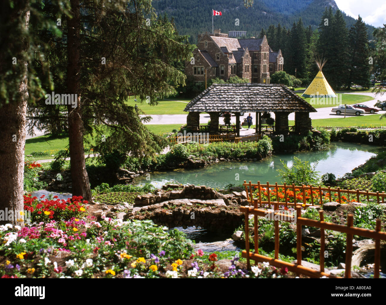 Canada Banff Cascade Gardens Stock Photo: 528032 - Alamy