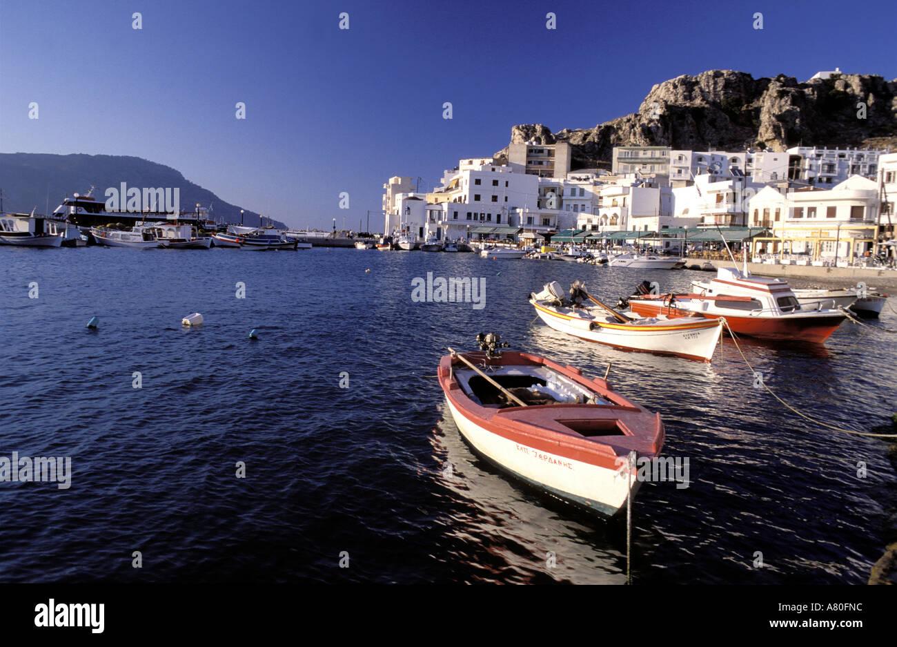 Greece, Dodecanese islands, island of Karpathos, city of Pigadia Stock Photo