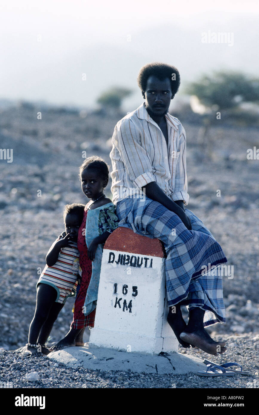 Djibouti, Tadjoura, Afars tribe Stock Photo