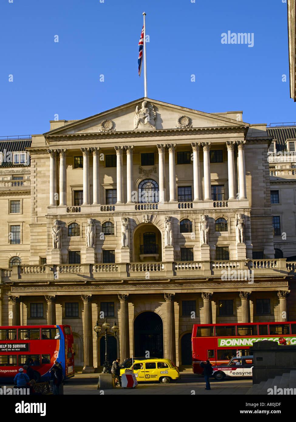 Threadneedle Street, Bank of England - Stock Image