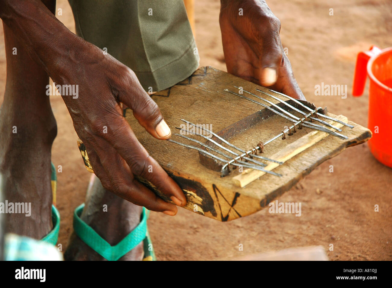 Mbira or thumb piano, a traditional African instrument. - Stock Image