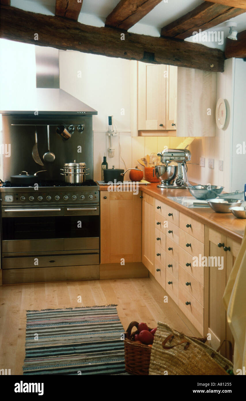 Modern Kitchen In Old House With Britannia Stove Stock Photo Alamy