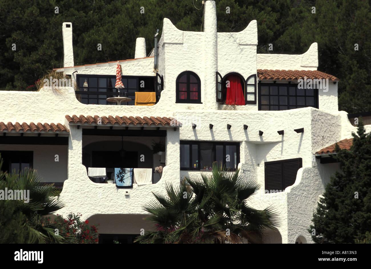 Spain, Balearic Islands, Ibiza, design 70's house - Stock Image