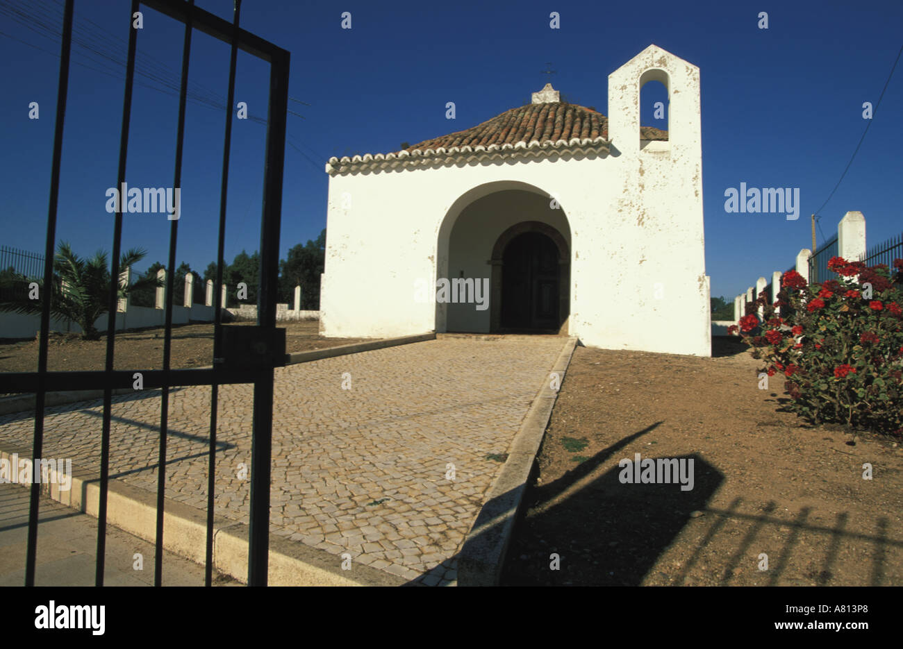 Portugal, Algarve Province, a chapel in Marmelete inland - Stock Image
