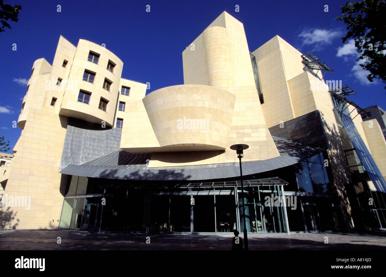 France, Paris, new center of cinema by architect Frank Gehry, in Bercy park - Stock Image