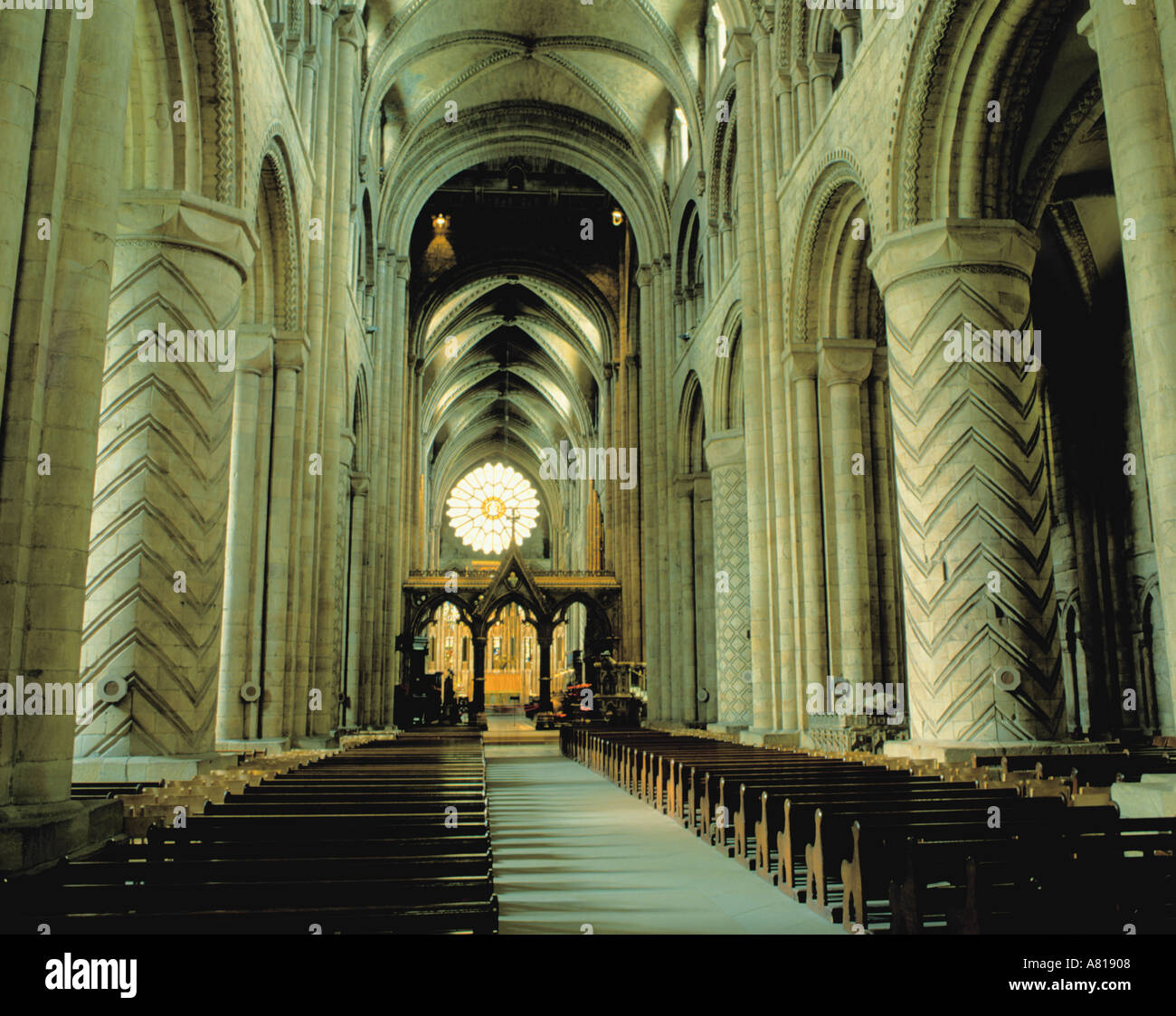 England Durham Interior Durham Cathedral Stock Photos England