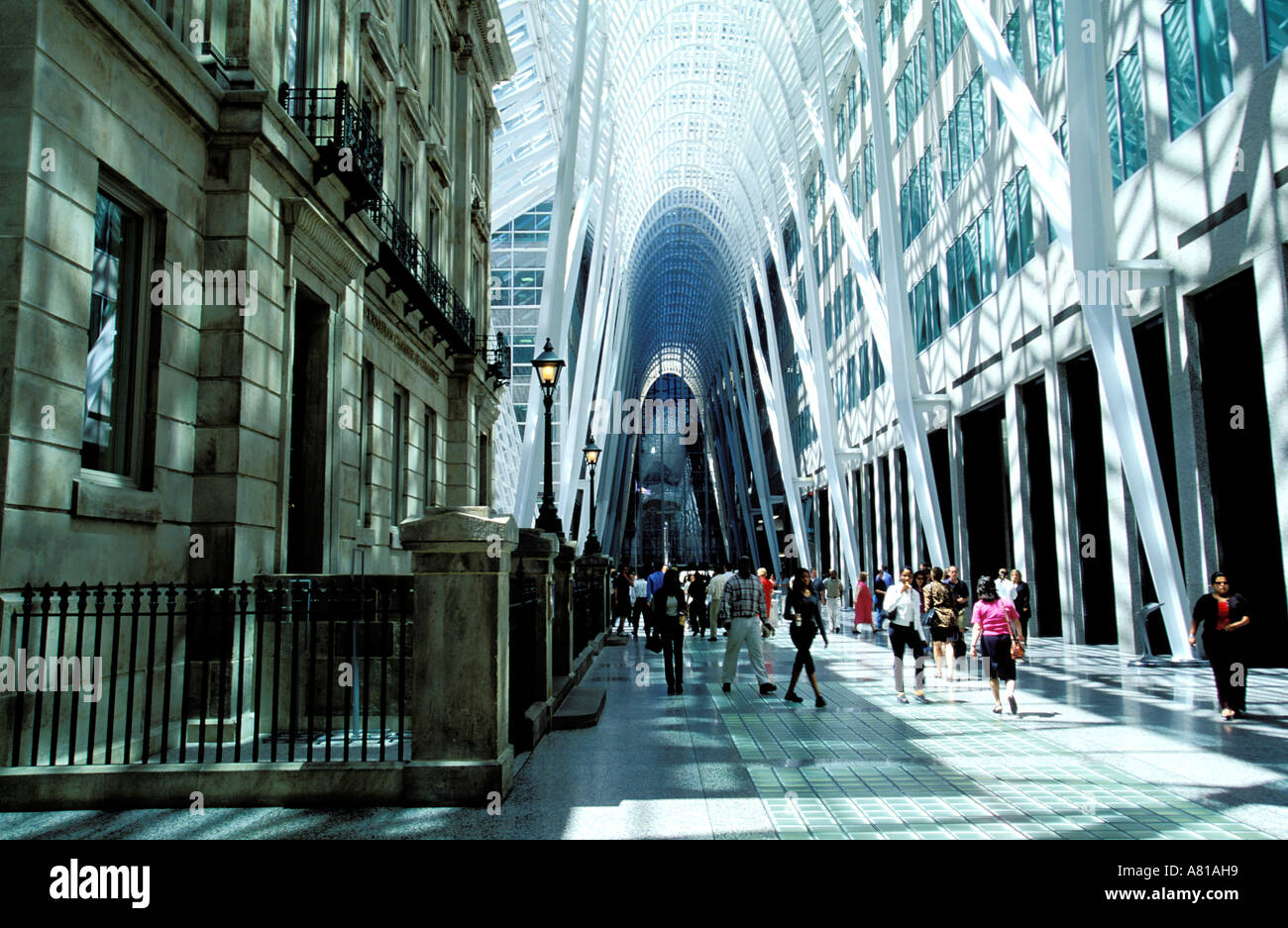 Canada, Ontario, Toronto, BCE Place, shopping mall and business district, La Galleria - Stock Image