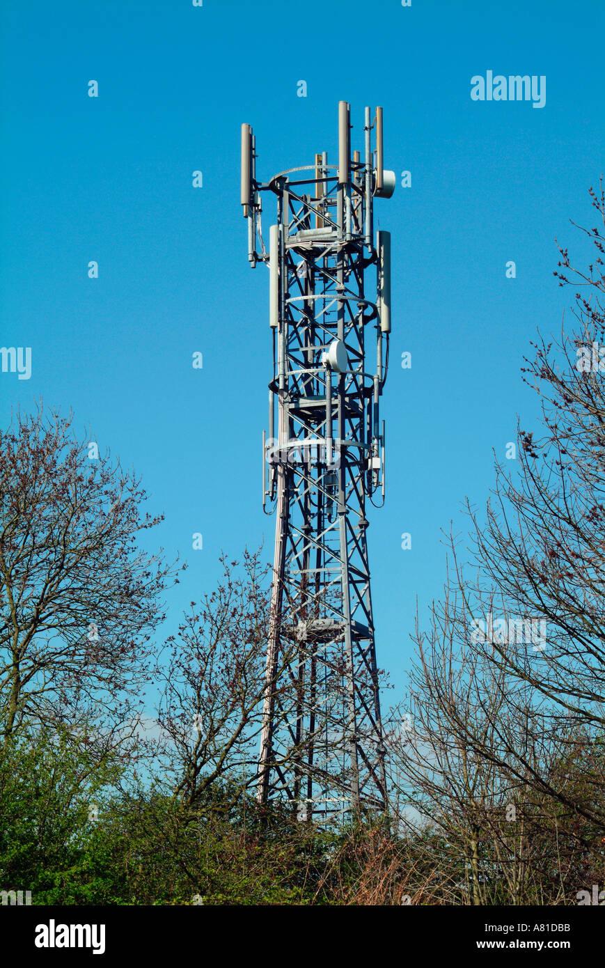 mobile phone transmitter mast Stock Photo