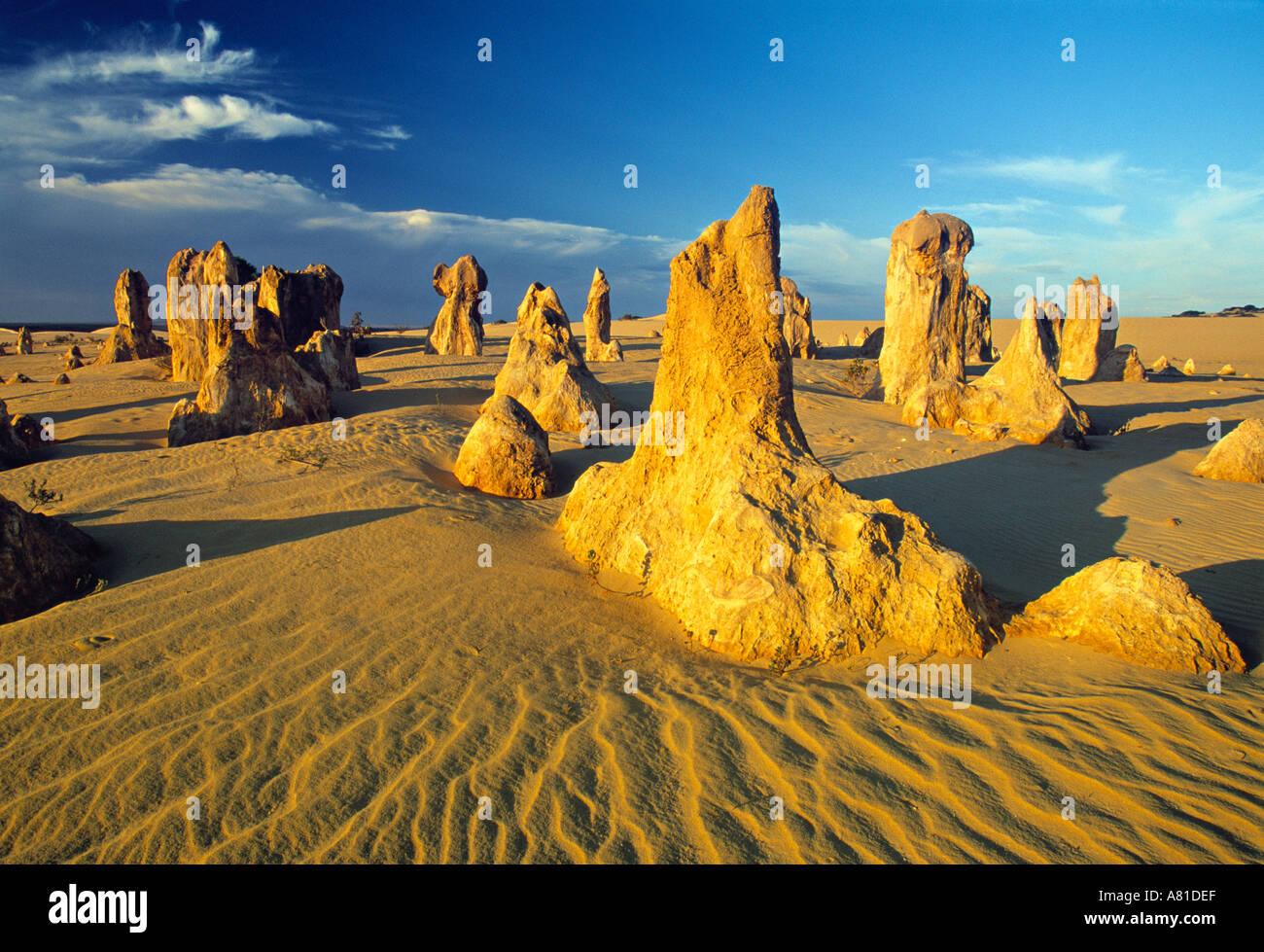 Pinnacle Desert, Western Australia, Australia - Stock Image