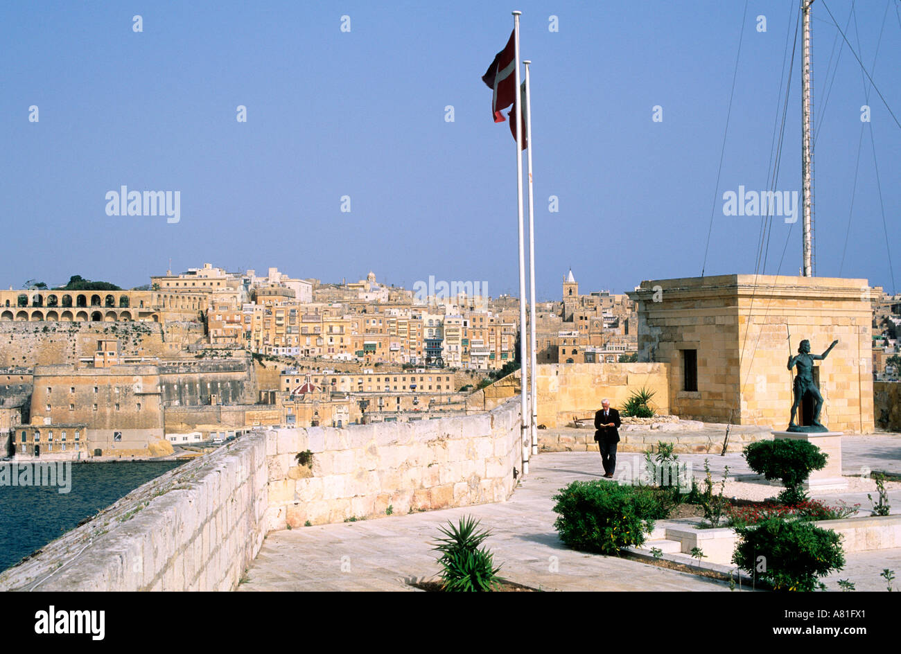 Malta, Fort Saint Angelo, exclusive use of the Sovereign Order of Malta - Stock Image