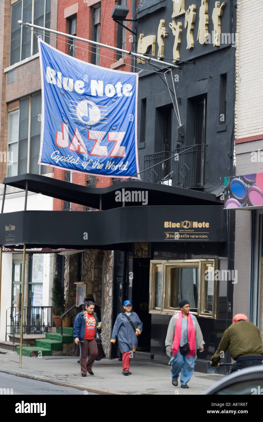 Blue Note Jazz Club Greenwich Village New York City Stock