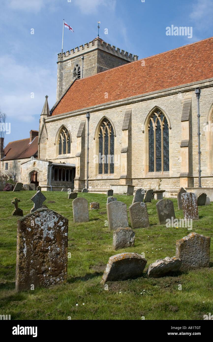 St Mary Church Long Wittenham Oxfordshire - Stock Image