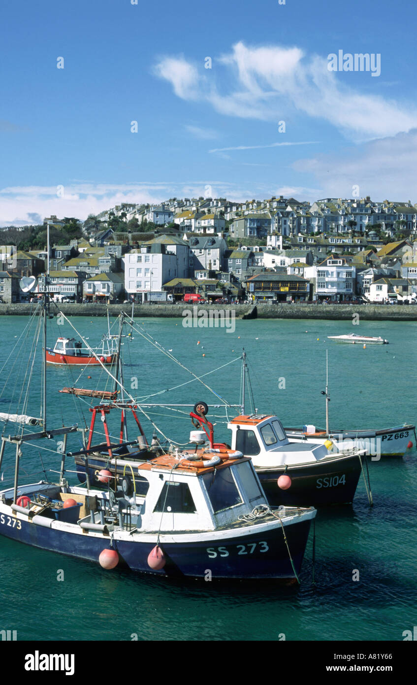 Harbour - St Ives, Cornwall, ENGLAND - Stock Image
