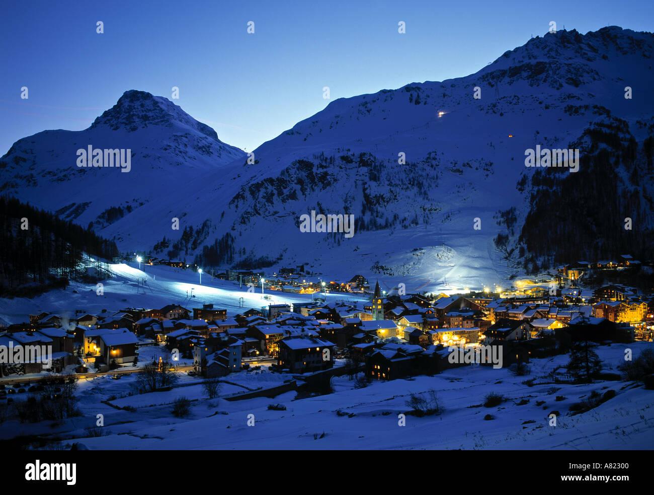 Val D'Isere, Haute Savoie, France - Stock Image