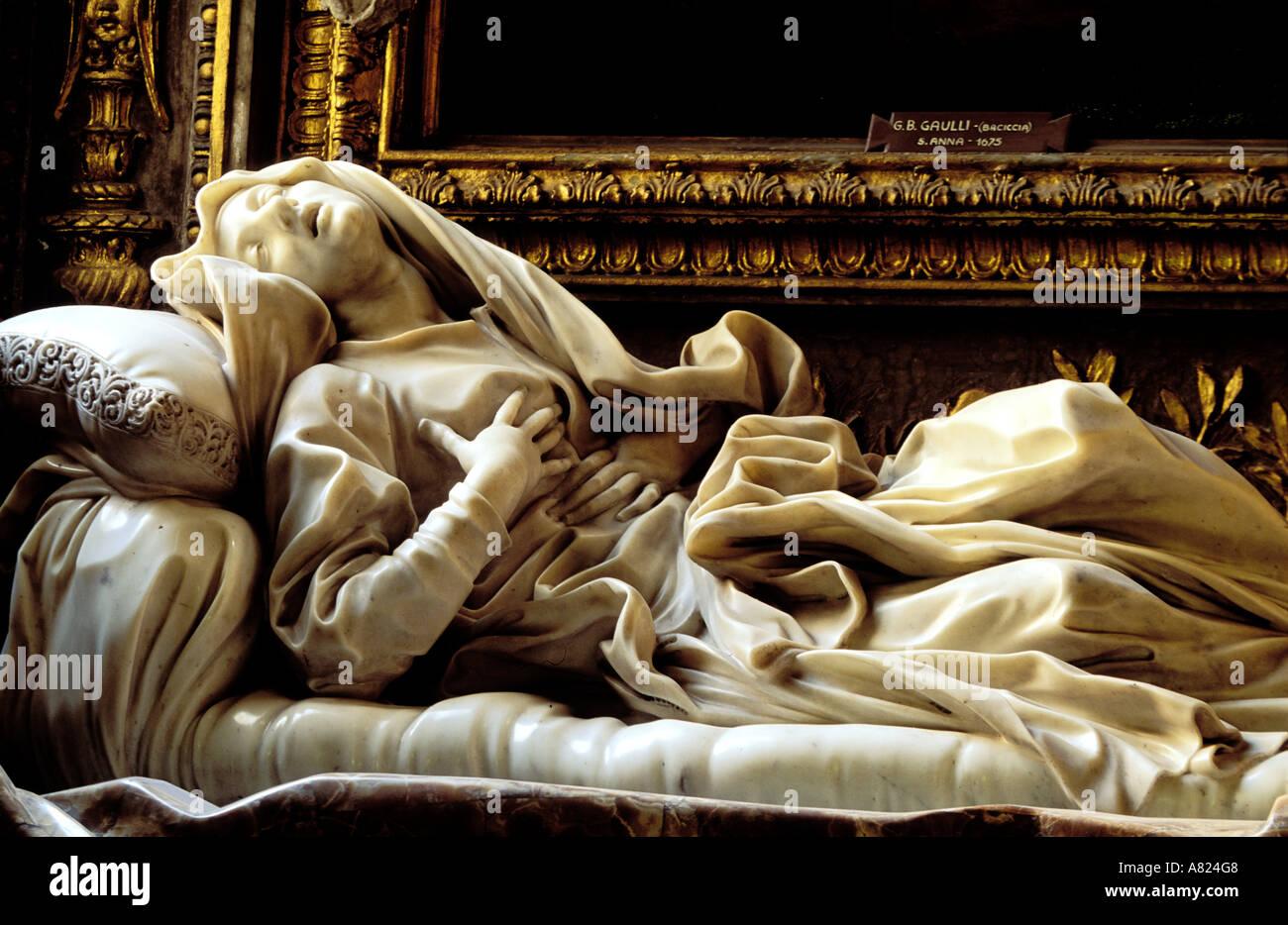 Italy, Lazio, Rome, the Blessed Ludovica Albertoni by the sculptor Bernini - Stock Image