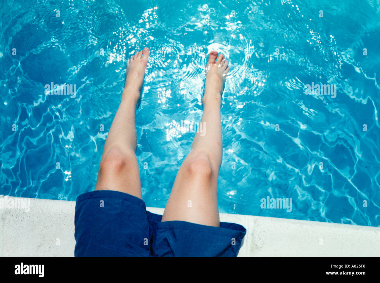 Lazy days at the pool - Stock Image