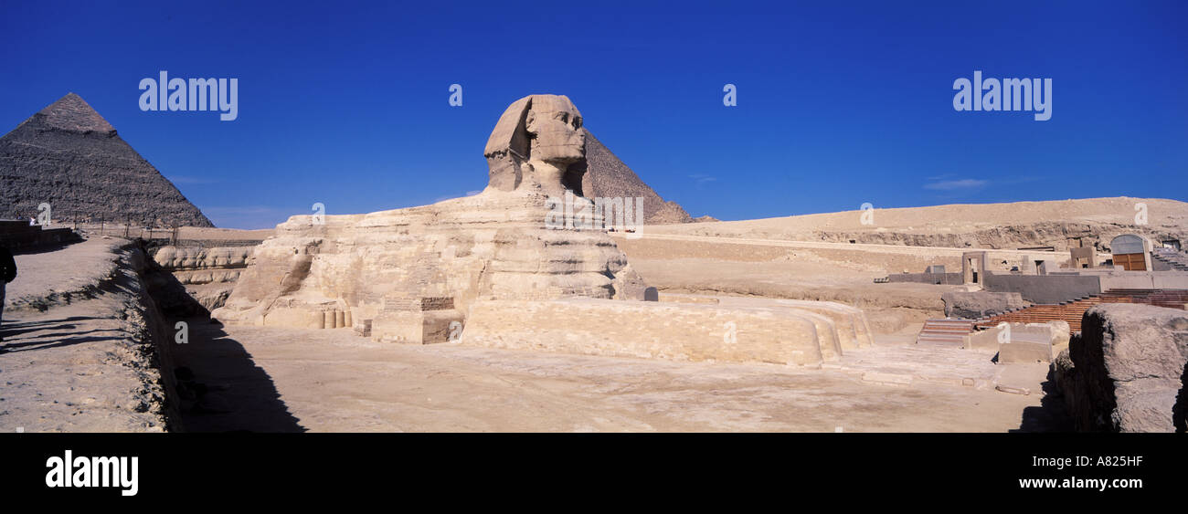 Egypt, the Sphinx in Gizeh - Stock Image