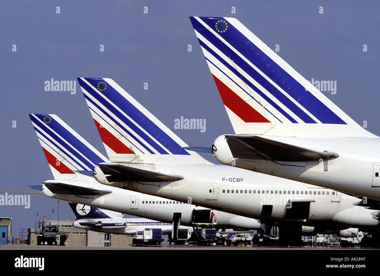France, Seine Saint Denis, embleme de le compagnie Air France - Stock Image