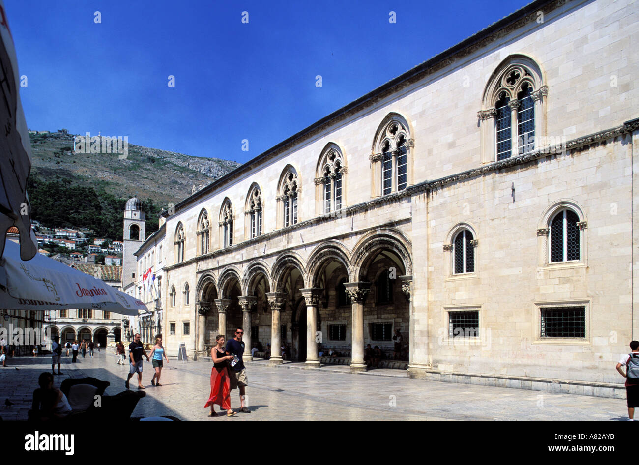 Croatia, Southern Dalmatia, Dubrovnic, the Palace of the Superintendent Stock Photo